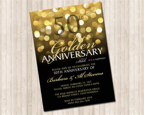 50th Wedding Invitations by 50th Golden Wedding Anniversary Invitation Design