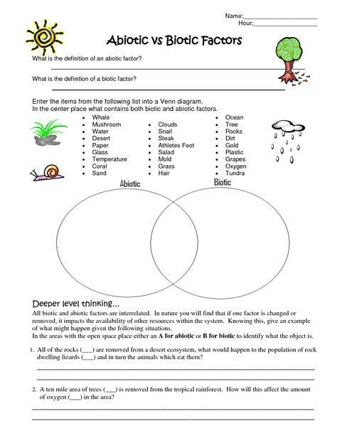 Ecosystem Worksheet Answers by Ecosystem Worksheets For 2nd Grade Worksheet Exle