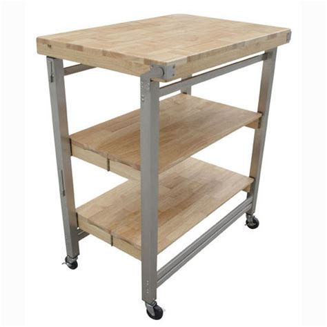 Folding Kitchen Cart Metal And Deluxe Flip And Fold Kitchen Cart With Patented Precision