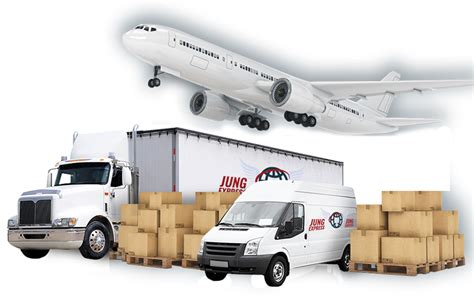 jung express expedited freight forwarder trucking company air cargo carriers freight