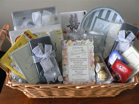 Wedding Anniversary Gift Baskets by 25th Wedding Anniversary Congrats Gift Baskets Diy