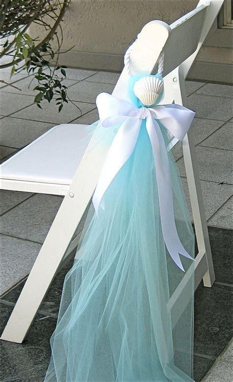 Beach Wedding Decor Chair Decorations by