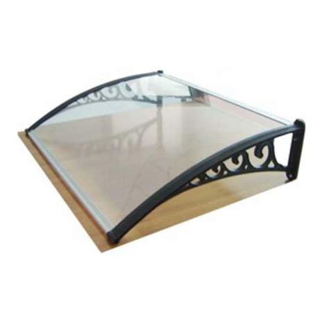 tettoia in policarbonato trasparente tettoia pensilina da esterno 80x100 cm