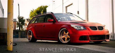 vip bmw wide load vip modular s bmw e61 stance works