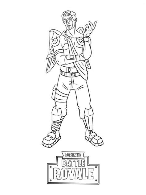 Desenhos de Fortnite para colorir. Imprimir heróis do jogo