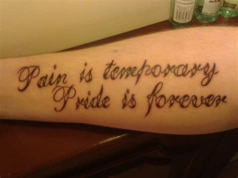 pain is temporary tattoo 25 excellent and best quote tattoos ideas 2017 sheideas