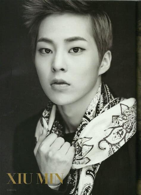 biography of xiumin xiumin kim min seok korean black and white