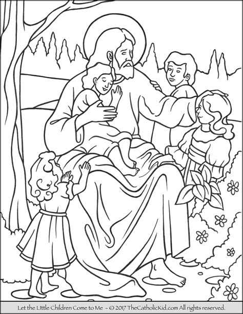 coloring pages jesus follow me jesus let the children come to me coloring page
