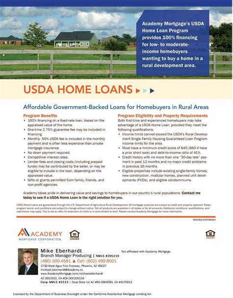 usda home loans loan program flyers home