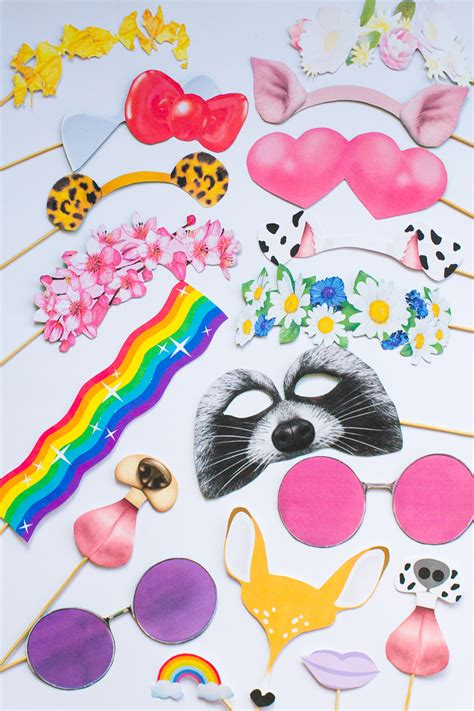 free printable new photobooth snapchat props for your
