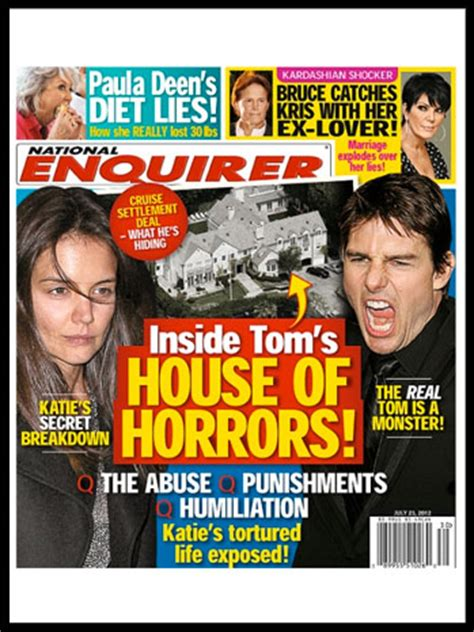 A National Enquirer Exclusive What Really Happened To Make Oneal Go Berserk by Tom Cruise Lawyer Threatens National Enquirer House
