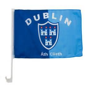 Home dublin flag for car window
