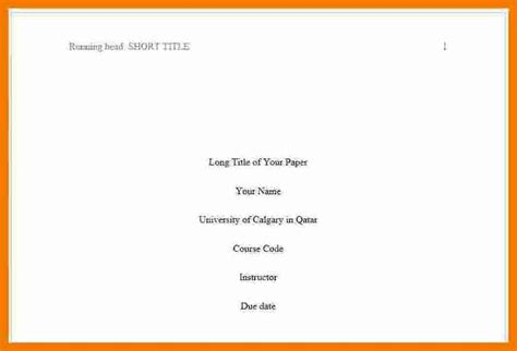 Apa Format Essay Title Page by 13 Apa Format Title Page 2017 Resume Holder