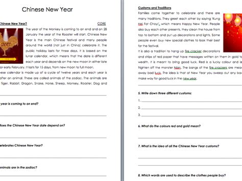 new year writing ks2 new year differentiated comprehension gung hay