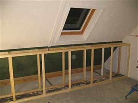 lade a plafone wand onder schuin dak slopen