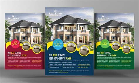 Real Estate Flyer Template Flyer Templates Creative Market Real Estate Ad Templates