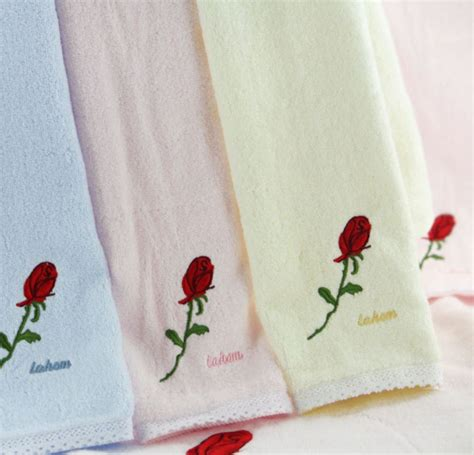 Bath Towels Embroidered Names Embroidered Bath Towels