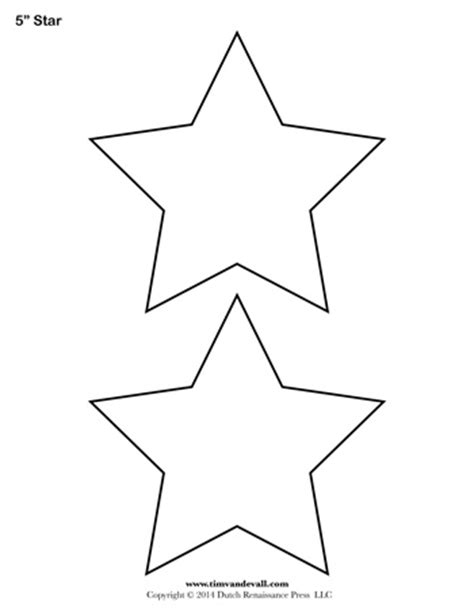 printable templates of stars star template 5 inch tim s printables