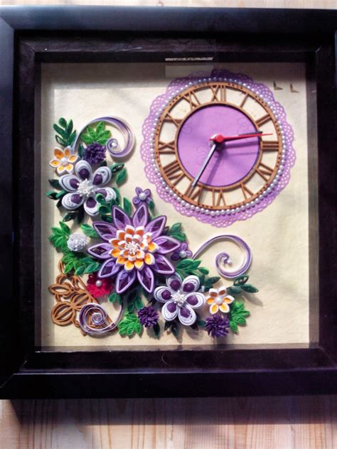 paper quilling tutorial in telugu richa s d 233 lice my new quilled wall clock quilling