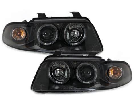 Audi A4 B5 Leuchtmittel by Led Angel Eyes Scheinwerfer Audi A4 B5 95 98 Schwarz