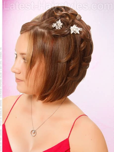 homecoming hairstyles for short straight hair homecoming hairstyles for short hair