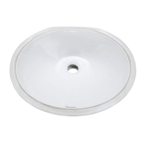 decolav classically redefined oval undermount bathroom sink in white 1412 cwh the home depot