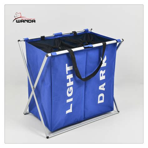 2 Section Laundry Sorter by New Laundry Sorter Her 2 Bin Bags Section Basket Lights