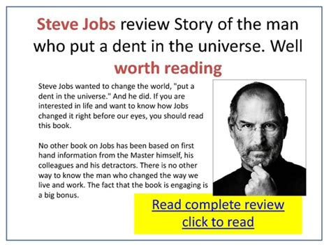 review of biography of steve jobs moneymaking pdfsr com
