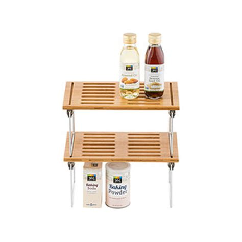 Stackable Pantry Containers by Bamboo Shelf Small Bamboo Stackable Shelf The