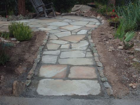 flagstone patio installation is a snap rock n dirt yard