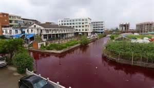 scary a river in china turns blood overnight