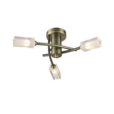 dar lighting mor0375 antique brass semi flush 3