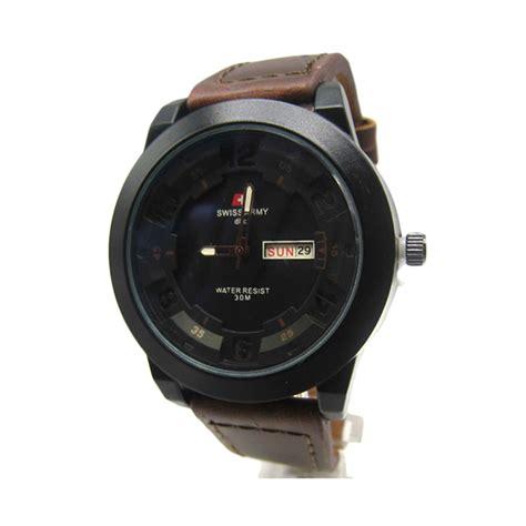 Swiss Army Black And Brown jual swiss army sa 6381 jam tangan pria fashion black