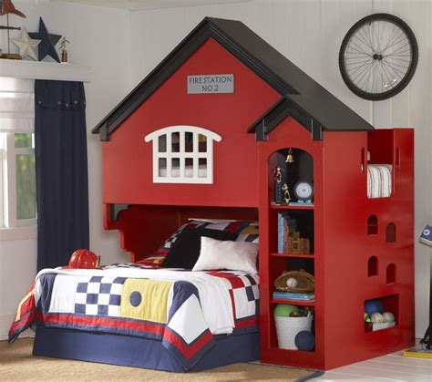 Firehouse Bunk Bed Loft Bed Firehouse Bedroom Ideas Kid Loft Beds Loft Beds And Loft