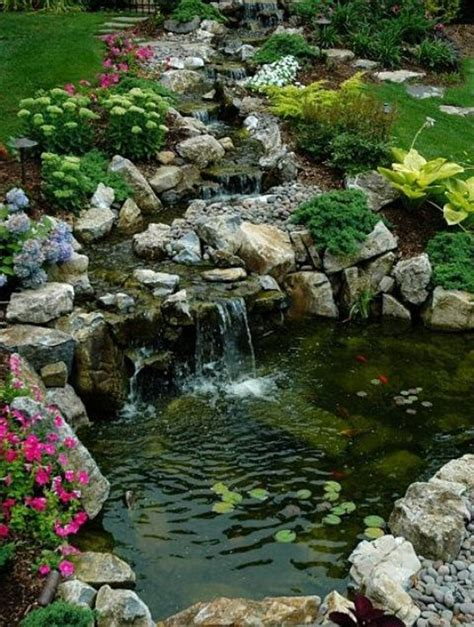 Backyard Waterfall Ideas 35 Dreamy Garden With Backyard Waterfall Ideas Home Design And Interior
