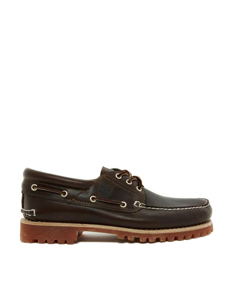 timberland 3eye classic lug boat shoes in black for