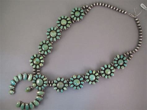 squash blossom necklace with turquoise