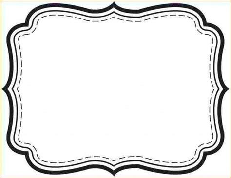 printable label art picture frame 6 label templates free outline templates
