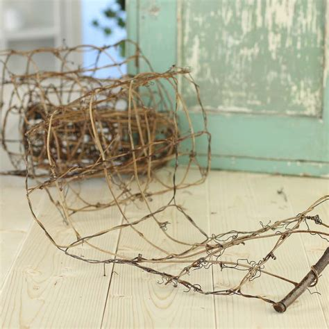 lacquered grapevine wire garland rusty tin garlands