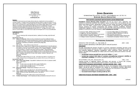 Resume Sles For Executive Sales Executive Resume Exle
