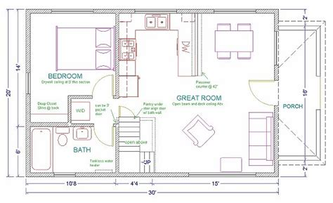 17 Best Images About 20 X 40 Plans On Pinterest House 20 X 20 Guest House Plans