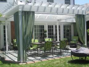 Outdoor Curtains For Pergola » Home Design