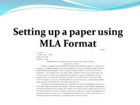 mla style essay template setting up a paper using mla format