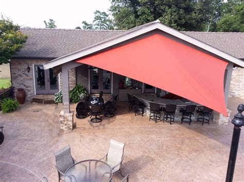 Sail Awning Shade by New Orleans Outdoor Sail Shades Installation C Bel