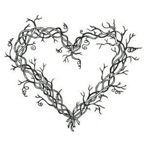 heart vine pattern grapevine wreath heart hand embroidery 그림 pinterest