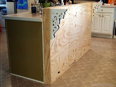 How To Build A Kitchen Island Bar Adding Stone To The Breakfast Bar Reality Daydream