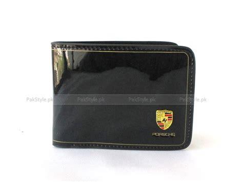 Porsche Portemonnaie by Porsche Glossy Leather Wallet Black Price In Pakistan