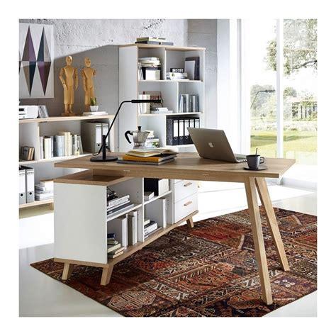 bureau angle droit bureau d angle gauche ou droit scandinave avec rangements