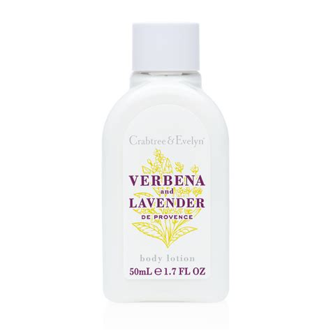 Crabtree Lotion Lavender Rosewater 50 Ml verbena and lavender de provence lotion