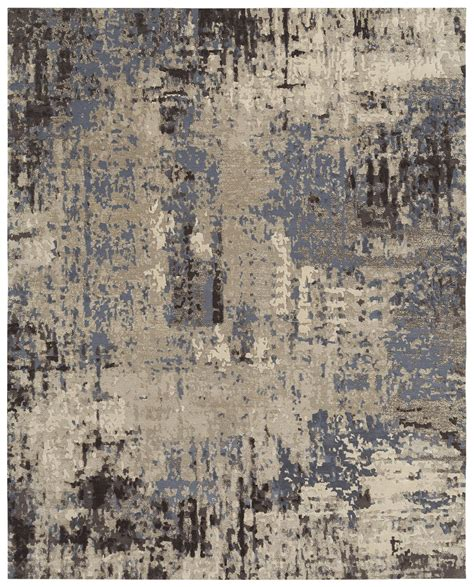this contemporary rug is knotted in nepal from the